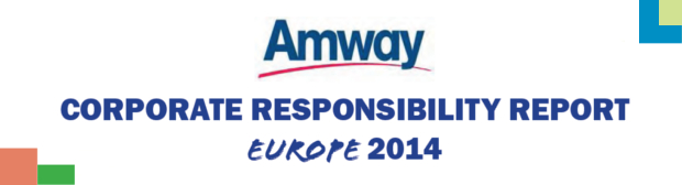 Amway Europe Corporate Responsibility Report 2013